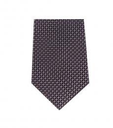 Michael Kors Brown Streamline Geo Slim Silk Tie
