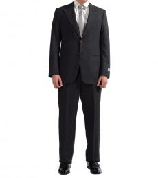 Grey Wool Plaided Two Button Suit