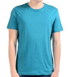 Versace Jeans Blue Crewneck Cotton T-Shirt