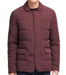 Cherry Quilted Oxblood Jacket