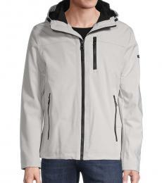 Calvin Klein Light Grey Fur-Lined Hooded Jacket