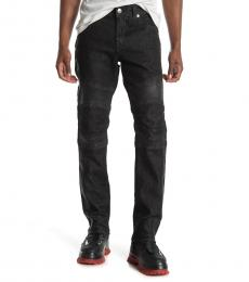 True Religion Black Rocco Moto Skinny Fit Jeanss