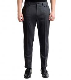 Dolce & Gabbana Grey Flat Front Dress Pants