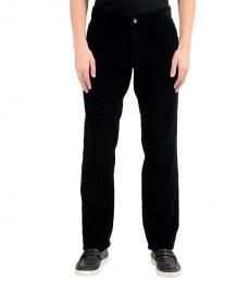 Dolce & Gabbana Black Corduroy Casual Pants