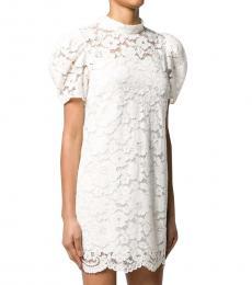 Marc Jacobs White Floral Lace Mini Dress