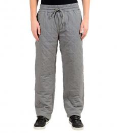 Dolce & Gabbana Grey Thermal Padded Casual Pants