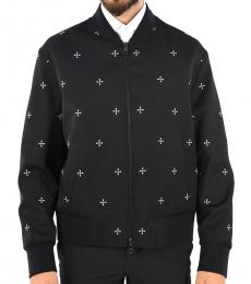Neil Barrett Black Printed Bomber