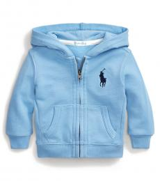 Ralph Lauren Baby Boys Blue Big Pony Hoodie