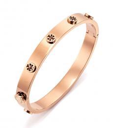 Tory Burch Rose Gold Logo Stud Bracelet