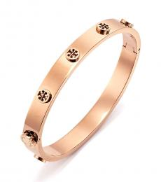 Tory Burch Rose Gold Logo Stud Bracelet