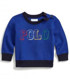 Ralph Lauren Baby Boys Heritage Royal Logo Sweater