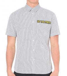 Marc Jacobs White Do The Maths Half Sleeve Shirt