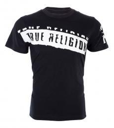 True Religion Black Stencel Graphic T-Shirt