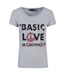Grey Basic Love T-Shirt