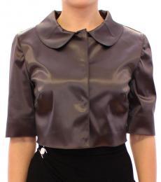 Dolce & Gabbana Dark Grey Glossy Shirt