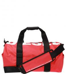 Diesel Red F-Bold Large Duffle Bag