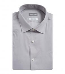 Grey Regular Fit Airsoft Stretch Dress Shirt