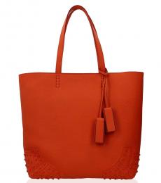 Tod's Orange Wave Medium Tote