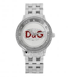 Silver Clear Stones Watch