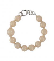 Emporio Armani Pink Resin Spheres Voguish Necklace