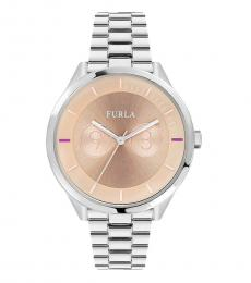 Furla Silver Stylish Metropolis Watch