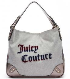 Juicy Couture Light Grey Jennifer Large Hobo