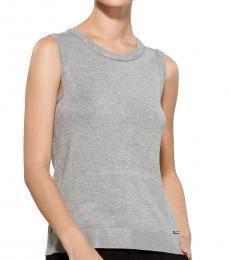 Heather Granite Hardware Vest Sweater