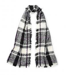Ralph Lauren Black White Blanket Scarf