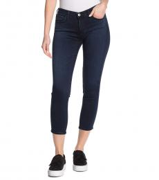 AG Adriano Goldschmied Dark Blue Skinny Crop Jeans
