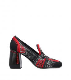 Prada Black Red Resort Heels
