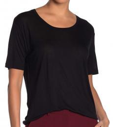 Diane Von Furstenberg Black Scoop Neck T-Shirt