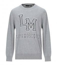 Love Moschino Medium Grey Insignia Logo Sweater