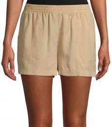 BCBGMaxazria Pale Khaki Noah Pull-On Shorts