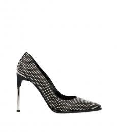 Alexander McQueen Black Crystals Embellished Heels