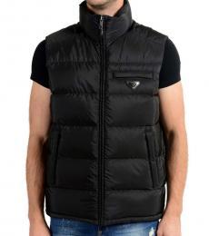Prada Black Down Full Zip Vest