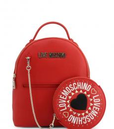 Red Round Pouch Small Backpack