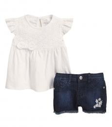 AG Adriano Goldschmied 2 Piece Top/Shorts Set (Baby Girls)