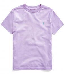 Ralph Lauren Little Boys English Lavender Crewneck T-Shirt