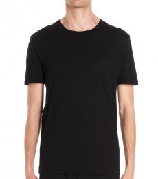 Black Patch Solid T-Shirt