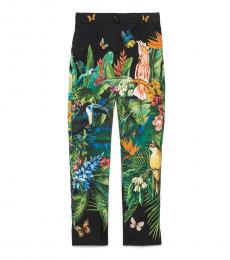 Dolce & Gabbana Multi color Printed Poplin Pants