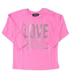 Diesel Baby Girls Pink Love More T-Shirt