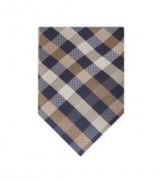 Michael Kors Taupe Spectrum Plaid Tie