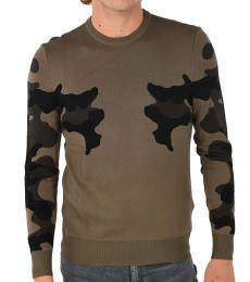 Taupe Camouflage Crewneck Sweater