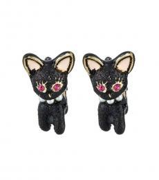 Black Dark Shadows Cat Earrings