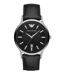 Emporio Armani Black Renato Logo watch
