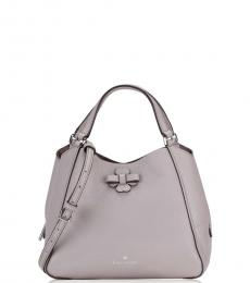 Kate Spade Taupe Talia Triple Compartment Small Satchel