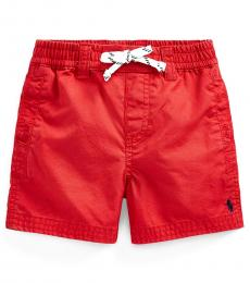 Ralph Lauren Baby Boys Evening Post Red Pull-On Shorts