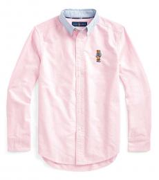 Ralph Lauren Boys New Rose Preppy Bear Shirt