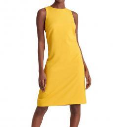 Ralph Lauren True Marigold Snap-Trim Shift Dress