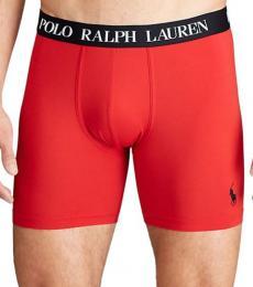 Ralph Lauren Red Microfiber Boxer Briefs